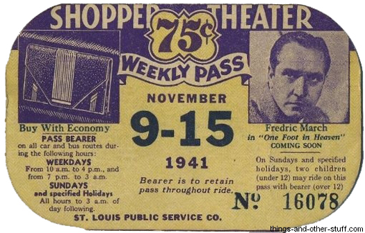 St. Louis Bus Passes from the 1940s