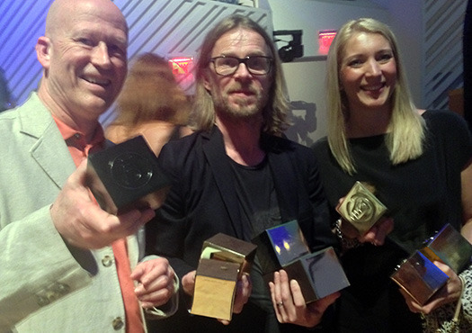 Members of Sweden's Forsman & Bodenfors, top winners of the 2014 ADC Awards